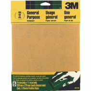 3M 9001 Sand Blaster Aluminum Oxide Sandpaper Sheets, 150 Grit, 9 Inch By 11 Inch, 5 Pack