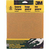3M 9002NA Sand Blaster Aluminum Oxide Sandpaper Sheets, 100 Grit, 9 Inch By 11 Inch, 5 Pack