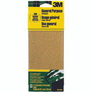 3M 9016 Sand Blaster Aluminum Oxide Sandpaper Sheets, 100 Grit, 3-2/3 Inch By 9 Inch, 6 Pack