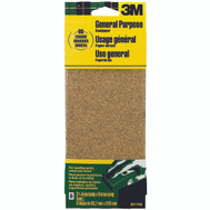 3M 9017 Sand Blaster Aluminum Oxide Sandpaper Sheets, 60 Grit, 3-2/3 Inch By 9 Inch, 6 Pack