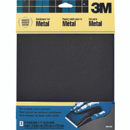 3M 9064 Emery Cloth Sheets, Assorted Grit, 9 Inch By 11 Inch, 3 Pack
