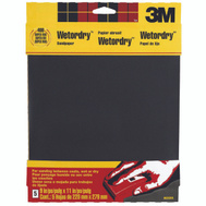 3M 9085 Wet or Dry 400 Grit, 9 Inch By 11 Inch, Waterproof Silicone Carbide Sandpaper, 5 Pack