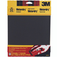 3M 9087NA Wet or Dry 240 Grit, 9 Inch By 11 Inch, Waterproof Silicone Carbide Sandpaper, 5 Pack