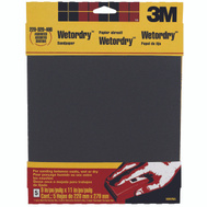 3M 9088 Assorted Grit, 9 Inch By 11 Inch, Waterproof Silicone Carbide Sandpaper, 5 Pack