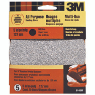 3M 9143 Hookit 5 Inch No Hole Hook And Loop Sanding Discs 40 Grit Extra Coarse 5 Pack