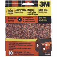 3M 9153 5 Inch Sanding Disc 20 Grit Extra Coarse 3 Pack