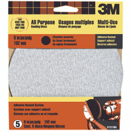 3M 9181 6 Inch Adhesive Backed Sanding Discs Very Fine Grit 5 Pack