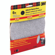 3M 9184 6 Inch Adhesive Backed Sanding Discs Coarse Grit 4 Pack