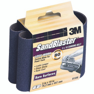 3M 9189 Sand Blaster 3 By 18 Inch Regalite Mineral Power Sanding Belt 80 Grit Medium