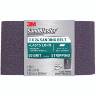 3M 9196 Sand Blaster 3 By 24 Inch Regalite Mineral Power Sanding Belt 50 Grit Coarse