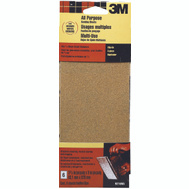 3M 9216 Sanding Sheets, Clip On, 100 Grit, 3-2/3 Inch By 9 Inch, 6 Pack