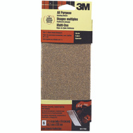 3M 9217 Sanding Sheets, Clip On, 60 Grit, 3-2/3 Inch By 9 Inch, 6 Pack