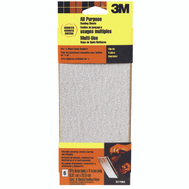 3M 9219NA Sanding Sheets, Clip On, Assorted Grit, 3-2/3 Inch By 9 Inch, 6 Pack