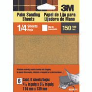 3M 9220ES Palm Sander Sheets, Clip On, 150 Grit, 4-1/2 Inch By 5-1/2 Inch, 6 Pack
