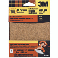 3M 9223NA Palm Sander Sheets, Clip On, Assorted Grit, 4-1/2 Inch By 5-1/2 Inch, 6 Pack