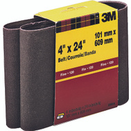 3M 9280 4 By 24 Inch Heavy Duty Resin Bond Power Sanding Belt 120 Grit Fine