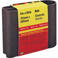 3M 9281 4 By 24 Inch Heavy Duty Resin Bond Power Sanding Belt 80 Grit Medium