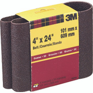 3M 9282 4 By 24 Inch Heavy Duty Resin Bond Power Sanding Belt 50 Grit Coarse