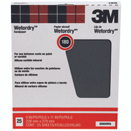3M 88600 Wet Or Dry Sandpaper Sheets 9 By 11 Inch 180A Grit