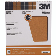 3M 88619 Garnet Sandpaper Surface Preparation 9 By 11 Inch 120C Grit
