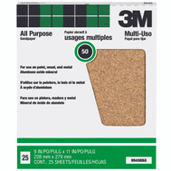 3M 99406NA Aluminum Oxide Sandpaper 9 By 11 Inch 50D Grit