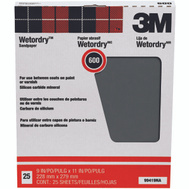 3M 99419NA Wet Or Dry Sandpaper 9 By 11 Inch 600A Grit
