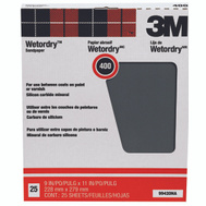 3M 99420NA Sand Blaster Sandpaper Sheets, Wet Or Dry, 400 Grit, 9 Inch By 11 Inch, 25 Pack