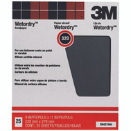 3M 99421NA Wet Or Dry Sandpaper 9 By 11 Inch 320A Grit