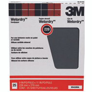 3M 99422NA Wet Or Dry Sandpaper 9 By 11 Inch 220A Grit