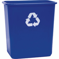 United Plastics WB0084 Wastebasket Recycle 28 Quart