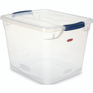 United Plastics 463108AQUAM Storage Container 30 Quart Snaptop