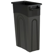 United Plastics TI0032 Container Waste Black 23 Gal