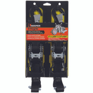 Keeper 05741 Heavy Duty Sports Extreme Ratchet Tie Down 1000 Lb 8 Foot 1-1/4 In Wide 2 Pack
