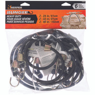 Keeper 06356 Cord Bungee Assorted Hd 6pc