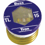 Cooper Bussmann TL-15 Tron Time Delay Plug Fuse TL 15 Amp 4 Pack