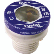 Cooper Bussmann S-15 Heavy Duty Dual Element Tamper Proof 15 Amp S Plug Fuses 4 Pack