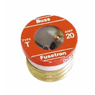 8 Fusetron Fuses 4 T15 4 T20 Amp Dual Element Time Delay Buss Bussman Tested New