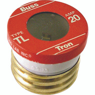 Cooper Bussmann BP/TL-20 Tron Time Delay Plug Fuse TL 20 Amp 3 Pack