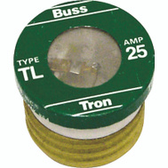 Cooper Bussmann BP/TL-25 Tron Time Delay Plug Fuse TL 25 Amp 3 Pack