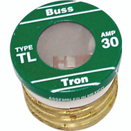 Cooper Bussmann BP/TL-30 Tron Time Delay Plug Fuse TL 30 Amp 3 Pack