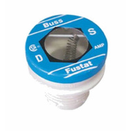 Cooper Bussmann BP/S-8 Heavy Duty Dual Element Tamper Proof 8 Amp S Plug Fuse