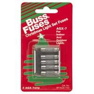 Cooper Bussmann BP/AGC-7-1/2RP Electronics And Christmas AGX 7 Amp Glass Fuses 125V 1 Pack