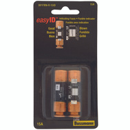 Cooper Bussmann BP/FRN-R-15ID Easy ID Dual Element Time Delay Cartridge Fuses With Indicator 15 Amp 2 Pack