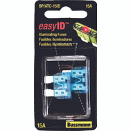 Cooper Bussmann BP/ATC-15ID Easy-Id ATC Illuminating Automotive Blade Fuses 15 Amp 2 Pack