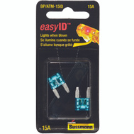 Cooper Bussmann BP/ATM-15ID Easy ID Easy-Id ATM-Illuminating Automotive Blade Fuses 15 Amp 2 Pack