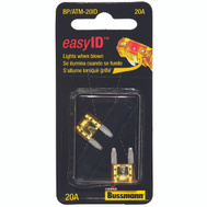 Cooper Bussmann BP/ATM-20ID Easy ID Easy-Id ATM-Illuminating Automotive Blade Fuses 20 Amp 2 Pack