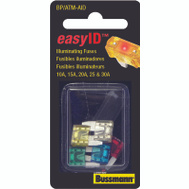 Cooper Bussmann BP/ATM-AID Mini Easy-Id ATM-Illuminating Automotive Blade 5 Piece Fuse Assortment