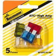 Cooper Bussmann BP/ATC-A5-RP High Amperage Automotive Blade Fuse 5 Piece ATC Assortment