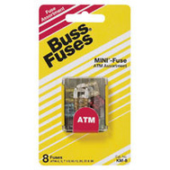 Cooper Bussmann BP/ATM-A8-RP Mini Automotive Blade Fuse ATM-8 Piece Fuse Assortment