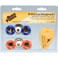 Cooper Bussmann SL-EK Tron Tamper Proof Time Delay Plug Fuse SL 7 Piece Emergency Kit With Continuity Tester